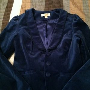 erin fetherston Jackets & Blazers - Blue Velvet Blazer! XS