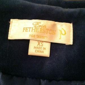 erin fetherston Jackets & Coats - Blue Velvet Blazer! XS
