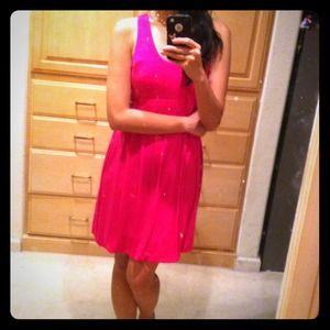 racer back hot pink dress