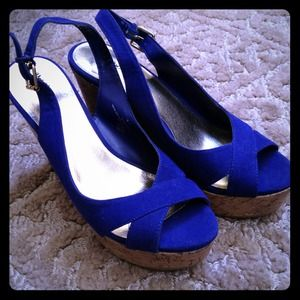 mossimo Shoes - 👠 Cute Royal blue Wedges