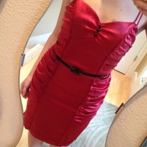 Betsey Johnson Dresses & Skirts - BETSEY JOHNSON Red Silk Cocktail Dress