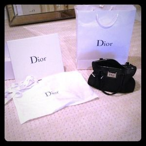 Dior Handbags - Christian Dior black speedy bag
