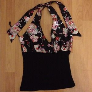 Tops - ✨Cute Asian silky feeling halter top...