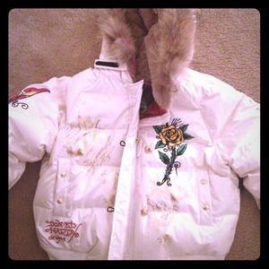 Cream Ed hardy jacket