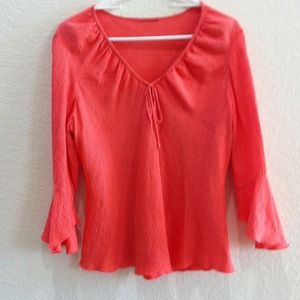 Tops - Blouse coral orange , Photo Show exact color