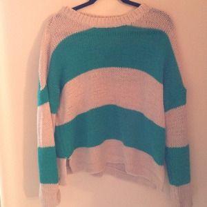 SOLD - Bold Striped Boxy Sweater