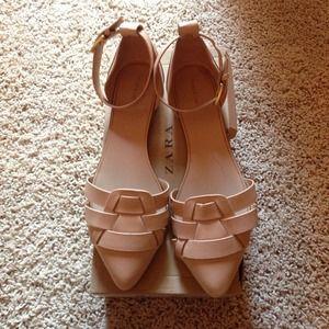Nude Pointy Toe Flats