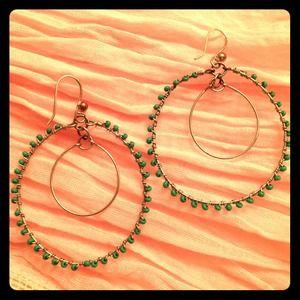 Jewelry - Double hoop bohemian beaded earrings