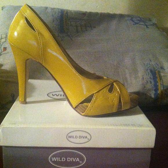 49 shoes mustard yellow open toe high