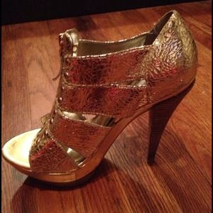Gold Jessica Simpson platforms