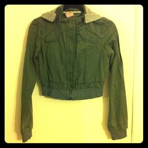 Free People cargo cropped jacket