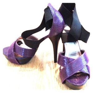 bebe Shoes - 2b Bebe purple sandals