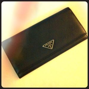 Prada Clutches & Wallets - Prada Tessuto Saffiano Continental Wallet