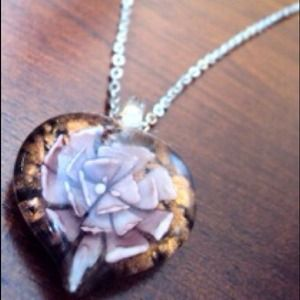 Encase flower necklace