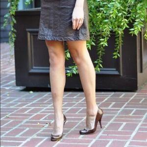 Emporio Armani Shoes - Emporio Armani Brown Patent Heels