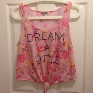 "Tops - ✨Dream A Little"" floral tank with tie 🌸"