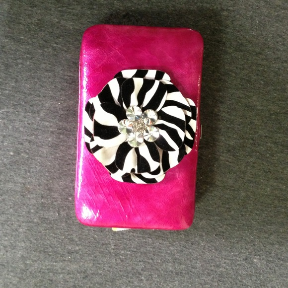 Clutches & Wallets - Pink leather clutch