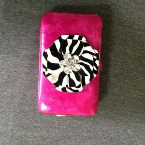 Bags - Pink leather clutch