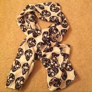 Accessories - Bundle  White Skull Scarf /ring and bracelet