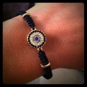 Urwish  Jewelry - Black Evil Eye Bracelet