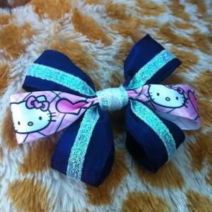 MoonGoddessCouture Accessories - 🎀😍Hello Kitty Pink*Purple Plaid & Hearts BOW🎀