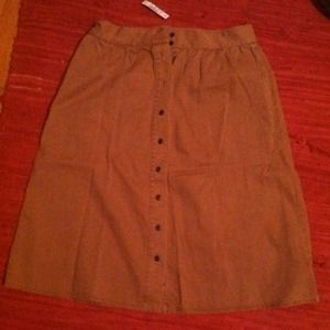 Madewell Dresses & Skirts - Khaki high waisted Madewell skirt! New, with tags!