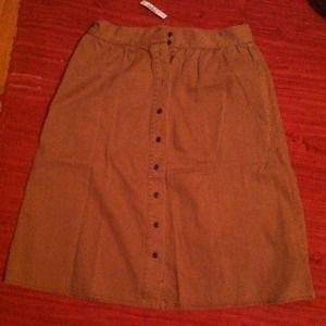 Madewell Dresses & Skirts - Khaki high waisted Madewell skirt! New, with tags!