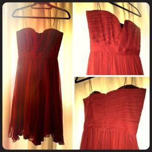 Foley + Corinna Hollywood Dress in Bordeaux