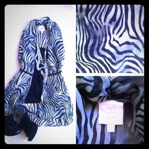 Zebra print chiffon top by Romeo & Juliet couture