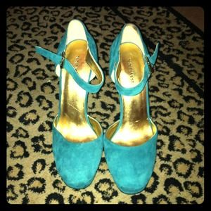 Nine West Shoes - Teal Mary Jane Platforms