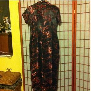 BN oriental dress,also have bag&heels that match