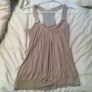 Olive green braided tank top