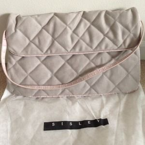 Sisley Clutches & Wallets - Reduced SISLEY quilted bag/clutch w/leather strap