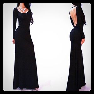 Dresses & Skirts - SEXY Black long backless cut out maxi gown dress