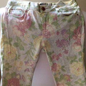 Zara Jeans - Zara floral skinnies