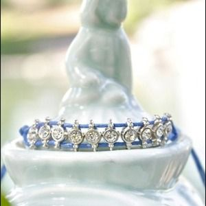 Jewelry - NWOT! Blue Crystal Weave Bracelet