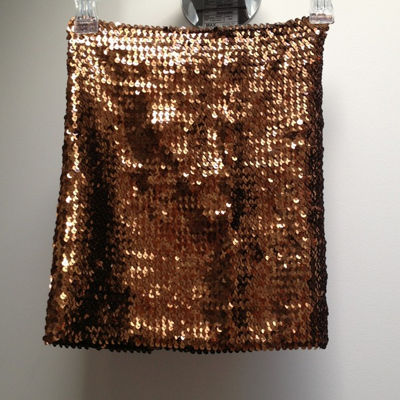 ASOS Skirts - Brand new w/tags bronze sequin bodycon skirt!