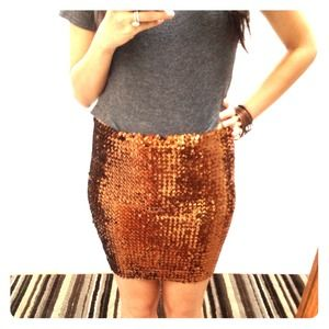 ASOS Skirts - Brand new w/tags bronze sequin bodycon skirt! 1