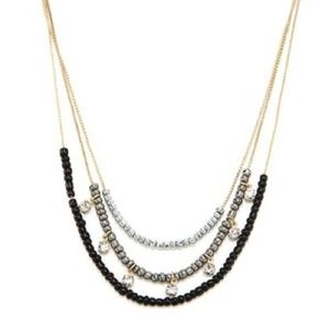 Jewelry - NWOT! Black & Gold Sparkle Necklace