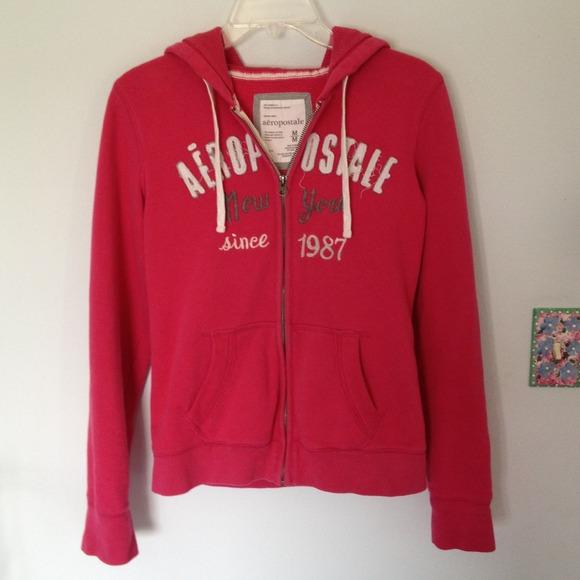 83% off Aeropostale Sweaters - Pink Aeropostale zip up hoodie ...