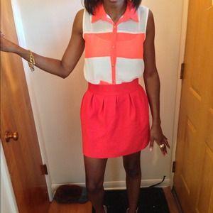 Reduced Zara Orange Red Skirt Size Medium
