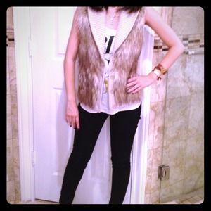 Ann Taylor Outerwear - Faux fur vest