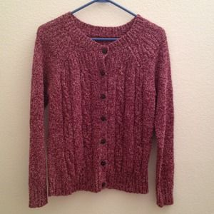Accessories - Purple and link knit sweater