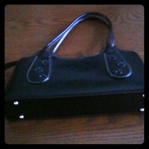 Black Double handle Purse