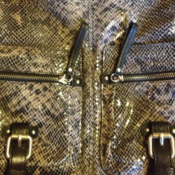Banana Republic Handbags - RESERVED FOR ELENABanana Rep Snakeskin Leather Bag 3