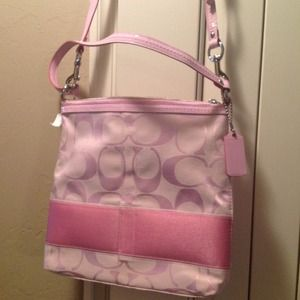 Coach Handbags - Nwt pink authentic coach handbag ON Hold