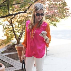 Tops - Violet Boutique colorblock shirt