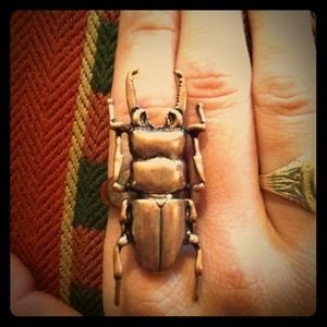 ❌RESERVED❌Stag beetle ring