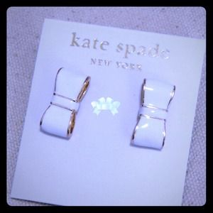 kate spade Jewelry - *SOLD msupgrade* Kate spade White Bow Earrings