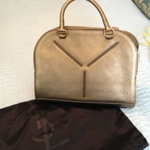 Yves Saint Laurent Handbags - 🎀HOLD🎀 Authentic YSL metallic gold handbag